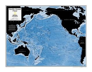 Pacific Ocean Floor - Map from National Geographic Atlas of the World 10th Edition by National Geographic Maps