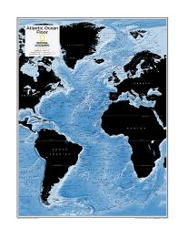 Atlantic Ocean Floor - Map from National Geographic Atlas of the World 10th Edition by National Geographic Maps