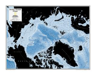 Arctic Ocean Floor - Map from National Geographic Atlas of the World 10th Edition by National Geographic Maps