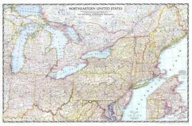 1945 Northeastern United States by National Geographic Maps