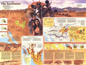 1982 Southwest Map Side 2 by National Geographic Maps