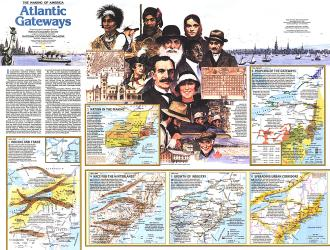 1983 Making of America, Atlantic Gateways Theme by National Geographic Maps