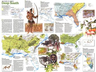 1983 Making of America, Deep South Theme by National Geographic Maps