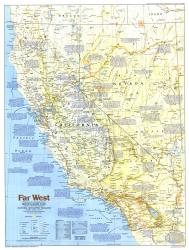 1984 Making of America, Far West Map by National Geographic Maps