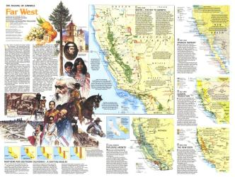 1984 Making of America, Far West Theme by National Geographic Maps