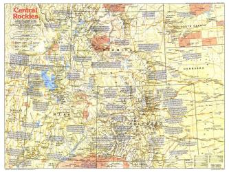 1984 Central Rockies Map Side 1 by National Geographic Maps