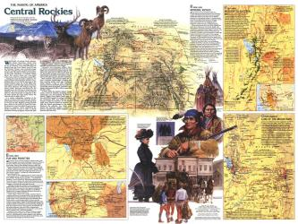 1984 Central Rockies Map Side 2 by National Geographic Maps
