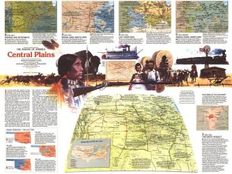 1985 Central Plains Map Side 2 by National Geographic Maps