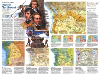 1986 Pacific Northwest Map Side 2 by National Geographic Maps