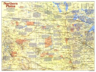 1986 Northern Plains Map Side 1 by National Geographic Maps