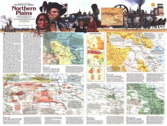 1986 Northern Plains Map Side 2 by National Geographic Maps