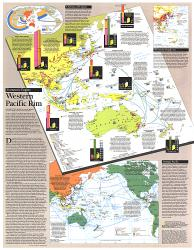 1989 Western Pacific Rim Map by National Geographic Maps