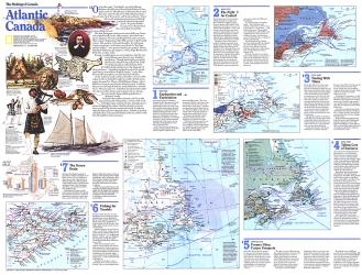 1993 Making of Canada, Atlantic Canada Theme by National Geographic Maps