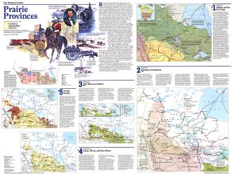 1994 Making of Canada, Prairie Provinces Theme by National Geographic Maps