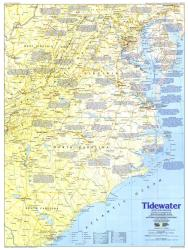 1988 Tidewater and Environs Map by National Geographic Maps