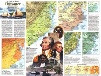 1988 Tidewater and Environs Theme by National Geographic Maps