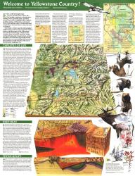 1989 Yellowstone and Grand Teton Map Side 2 by National Geographic Maps
