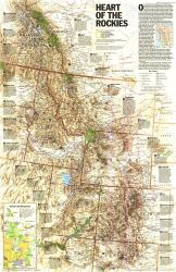 1995 Heart of the Rockies Map by National Geographic Maps