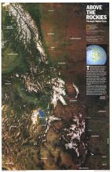 1995 Above the Rockies Map by National Geographic Maps