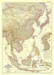 1952 The Far East Map by National Geographic Maps