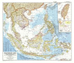1955 Southeast Asia Map by National Geographic Maps