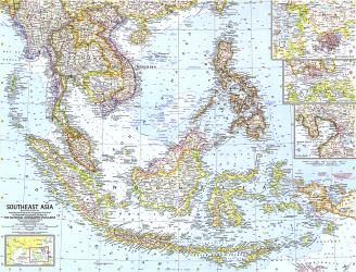 1961 Southeast Asia Map by National Geographic Maps