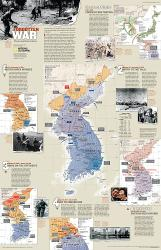 2003 The Forgotten War, Three Long Years in Korea by National Geographic Maps