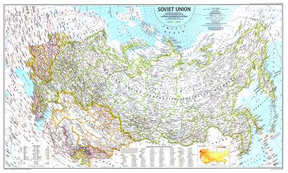 1990 Soviet Union Map by National Geographic Maps