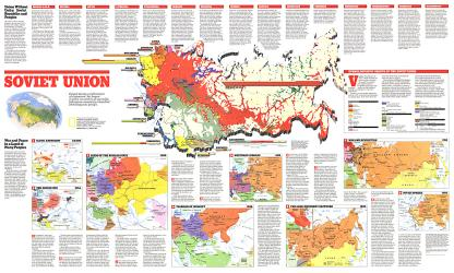 1990 Soviet Union Theme Map by National Geographic Maps
