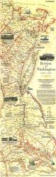1830 Boston To Washington Circa 1830 Map by National Geographic Maps
