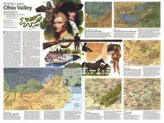 1985 The Making of America, Ohio Valley Theme by National Geographic Maps