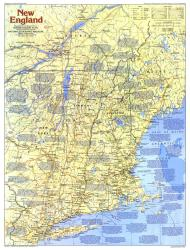 1987 New England Map Side 1 by National Geographic Maps