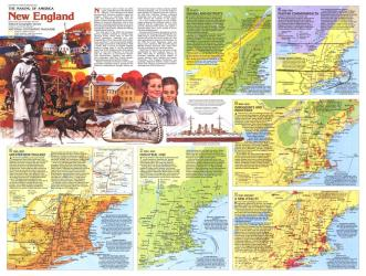 1987 New England Map Side 2 by National Geographic Maps