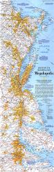 1994 Boston To Washington Megalopolis Map by National Geographic Maps