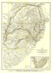 1899 Seat of War in Africa Map by National Geographic Maps