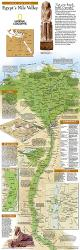2005 Egypts Nile Valley North Map by National Geographic Maps