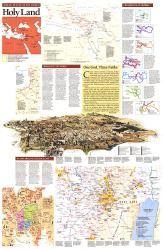1989 Special Places of the World, Holy Land Theme by National Geographic Maps