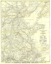 1900 Map of North Eastern China by National Geographic Maps