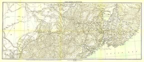 1905 Kirin Harbin Vladivostok Map by National Geographic Maps