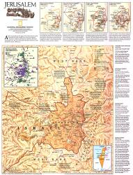 1996 Jerusalem Map by National Geographic Maps