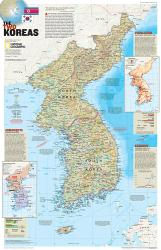 2003 The Two Koreas by National Geographic Maps