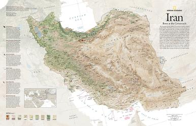 2008 Iran, Born at the Crossroads by National Geographic Maps