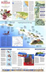 1995 Rediscovering Hawaii Map by National Geographic Maps