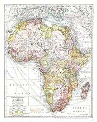 1909 Africa Map by National Geographic Maps