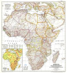 1950 Africa and the Arabian Peninsula Map by National Geographic Maps