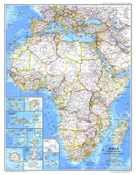 1980 Africa Map by National Geographic Maps