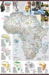 2001 Africa Oggi Map by National Geographic Maps