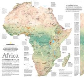 2005 Africa, A Storied Landscape Map by National Geographic Maps