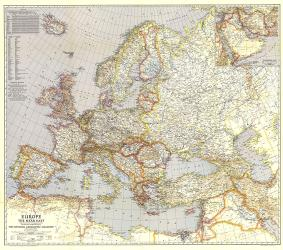 1940 Europe and the Near East Map by National Geographic Maps