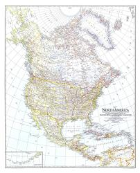 1942 North America Map by National Geographic Maps